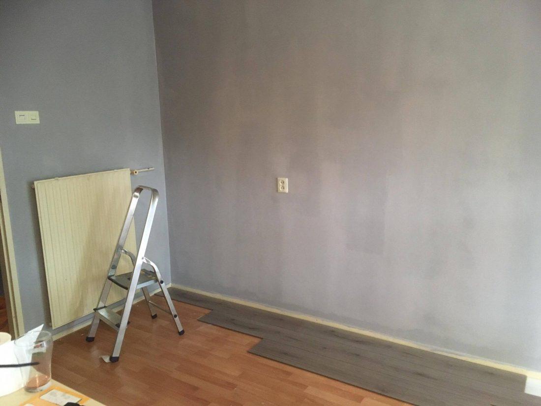 Nieuwe kleur aan de muur.