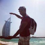 Hot weather in Dubai by Burj al arab trowback burjalarab