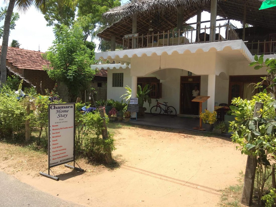 Het Guesthouse Chamara Home Stay.