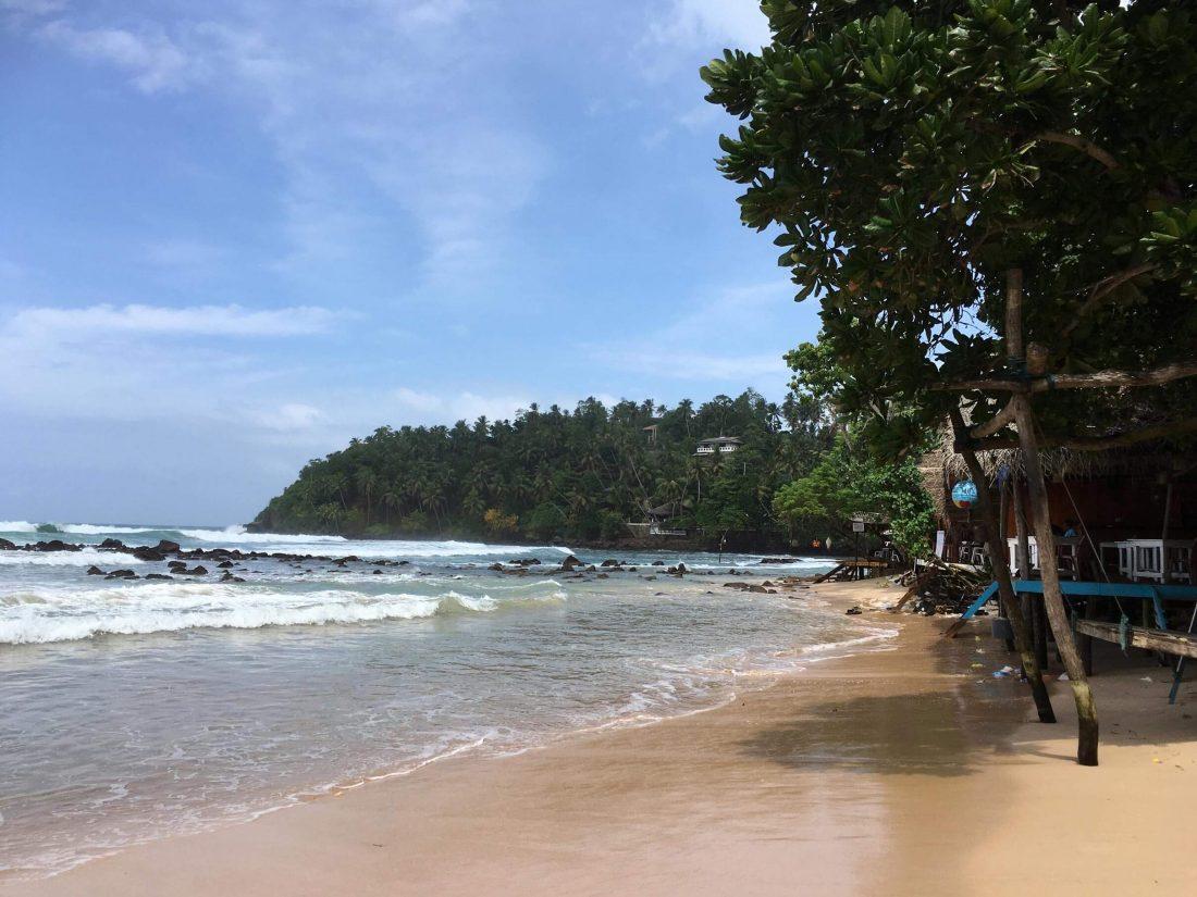 Merissa beach en de prachtige blauwe lucht.