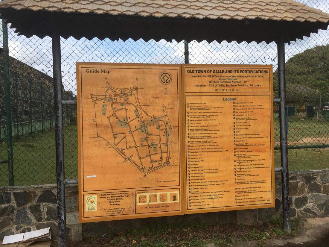 Plattegrond van de Galle Fort