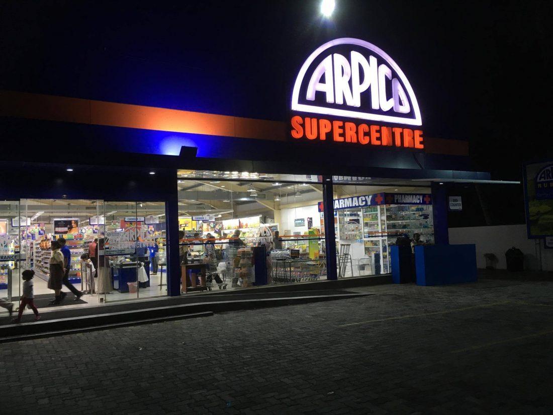 Arpico hier ging ik naar de supermarkt.