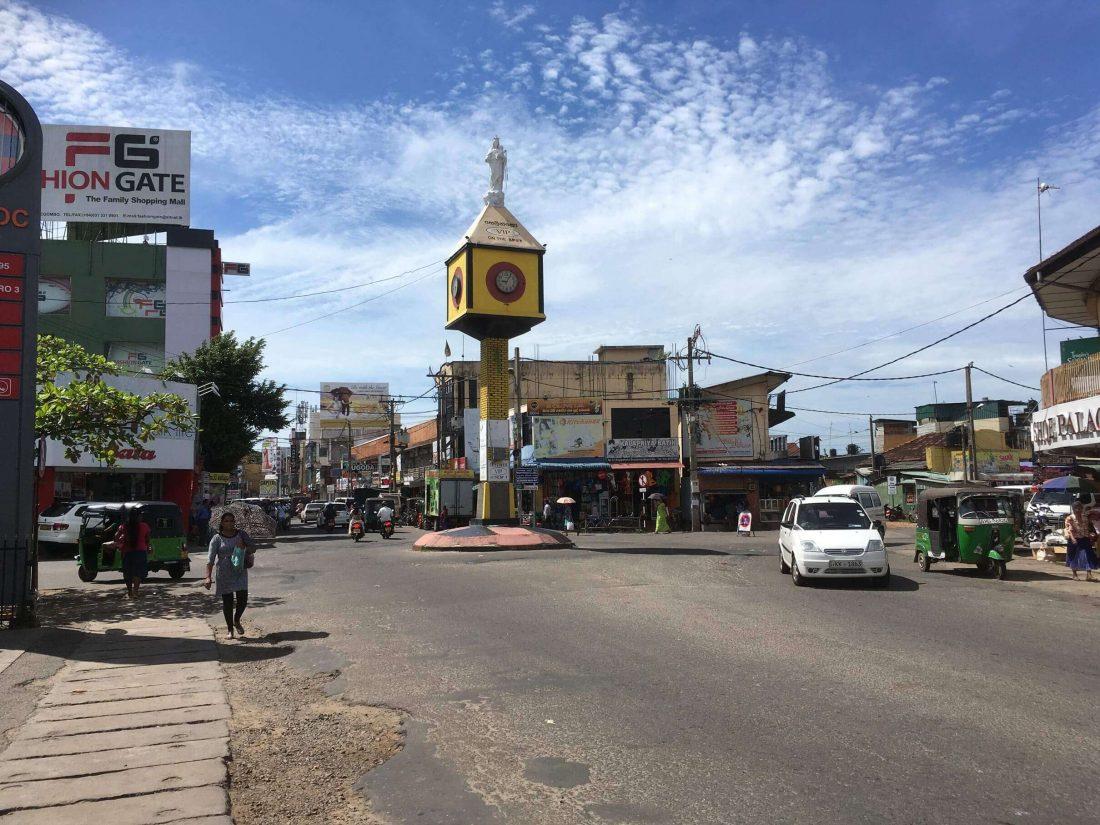 Prachtig plaatje van Negombo city.